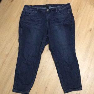 Lane Bryant jeans size 22w. Dark denim.
